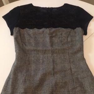 Plaid and Lace Zara Dress. Brand New.